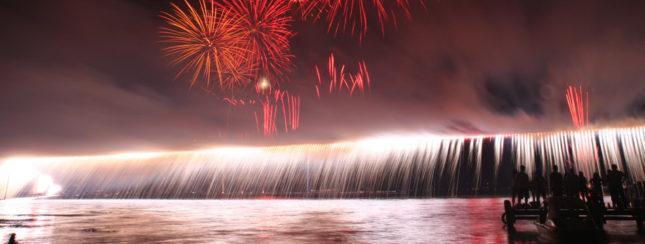 諏訪湖祭湖上花火大会大ナイヤガラ
